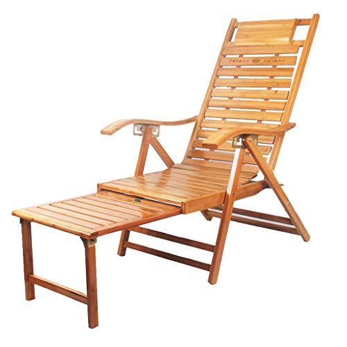 Chaise Longue Pliante Chaise Longue Fauteuil Relax réglable Fauteuil à Dossier Haut réglable Fauteuil de Repos pour Personnes âgées avec allongement du Soutien des Jambes