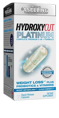 Weight Loss Pills   Hydroxycut Platinum   Womens Probiotic + Weight Loss Supplement Pills   Energy Pills   Metabolism Booster for Weight Loss   Weightloss & Energy Supplements   60 Pills