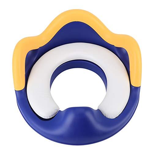 Asiento para orinal resistente, para niños, bebés, anillo para orinal de ajuste perfecto, suministro para bebés(Blue yellow)