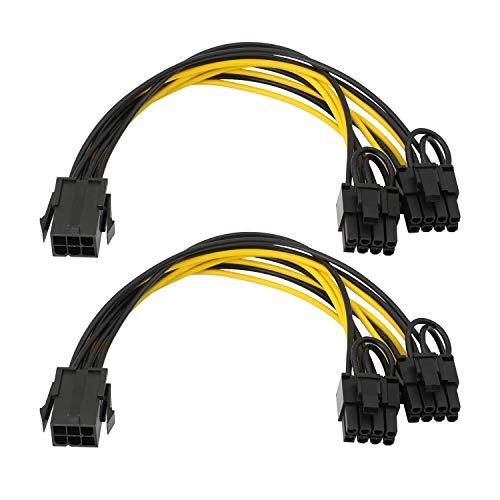 Adaptador de alimentación PCIe Express de 6 pines hembra a doble de...