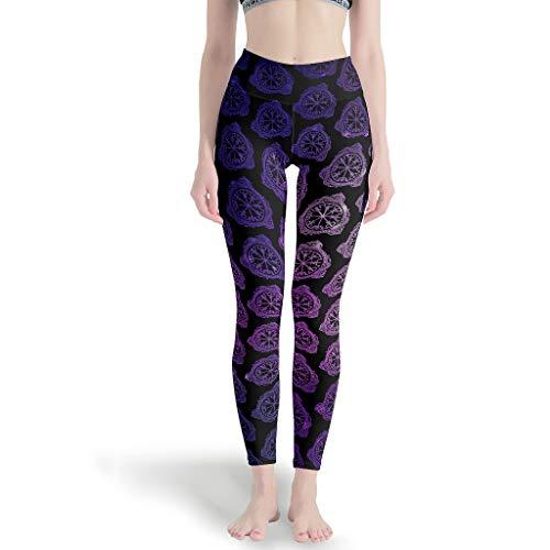 LAOAYI Pantalon de Course pour Femme Viking Yoga Fitness Legging Long léger Taille Haute Sport Viking Sport Muay Thai - Blanc - L