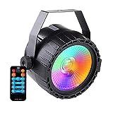 ステージ ライト、COB 付き LED ディスコ ライト ステージ照明は、DMX ワイヤレス リモート コントロールおよび結婚式用のサウンド DJ KTV バー クラブ ファミリー パーティー ダンス パフォーマンス バンド