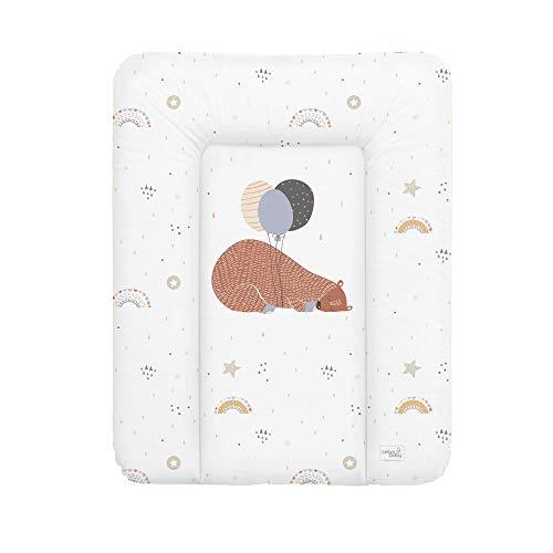 Ceba Baby Fasciatoio Materassino Fasciatoio 70x50 cm, 70x75 cm, 70x85 cm Cuscino Fasciatoio Lavabile per bambine e bambini - grande orso 50 x 70