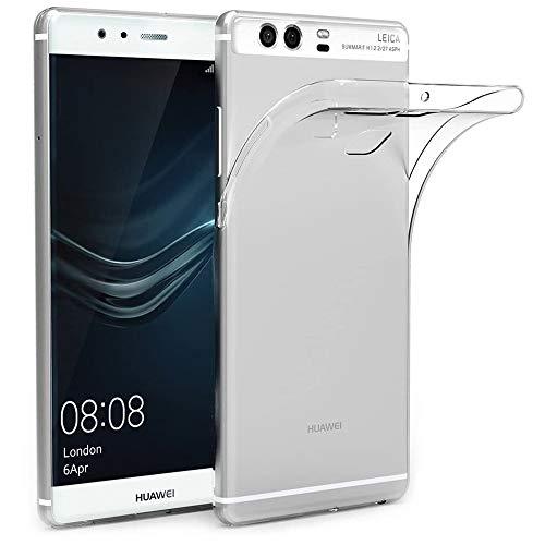 NewTop Cover Compatibile per Huawei P10/P9/Lite/Plus, Custodia Morbido TPU Clear Gel Silicone Trasparente Slim Back Case Posteriore (per Huawei P9)