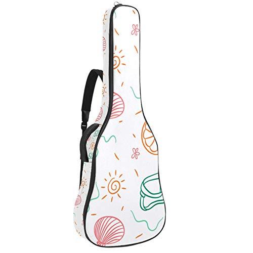 Bolsa para guitarra eléctrica con diseño gráfico de Summertime de tamaño completo acolchada con asa acolchada y correa para el hombro