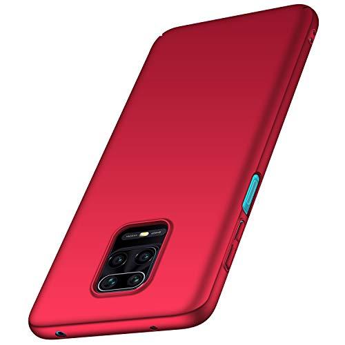 anccer Compatible para Xiaomi Redmi Note 9 Pro/Te 9S / Te 9S Pro MAX Estuche [Ultrafino] [Anti-caída] Material Premium Slim Funda de protección Completa para Redmi Note 9 Pro (Rojo Liso)
