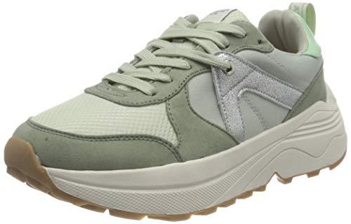 ONLY ONLSYLVIE-1 Color Sneaker, Zapatillas Mujer, Verde Menta, 37 EU