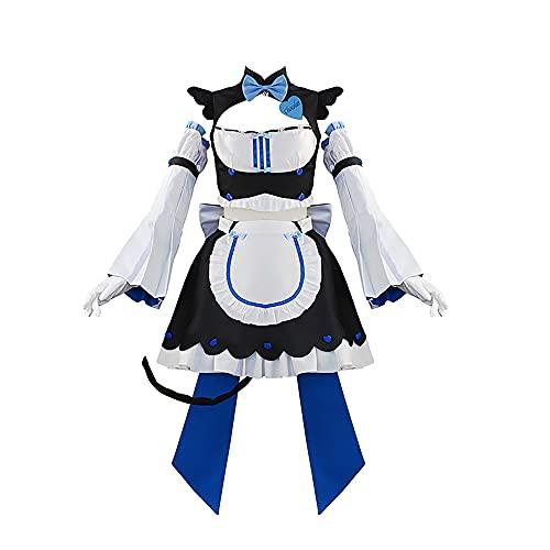 YUMITOP Vestido De Chocolate De Anime Y Disfraz De Sirvienta De Vainilla Dulce Vestido De Delantal De Lolita Disfraz De Cosplay De Halloween