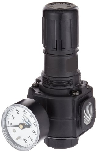 Dixon R74G-6RG Norgren Series Regulator with Gauge, 1/2 Size, 220 SCFM, 3/4 Port Size, 5-150 PSI by Dixon Valve & Coupling