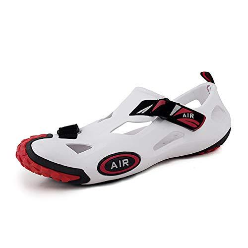 J & J Wassersportschuhe Barfuß Quick-Dry Aqua Yoga Socken Slip-on für Männer, Frauen, Kinder,whitered,42