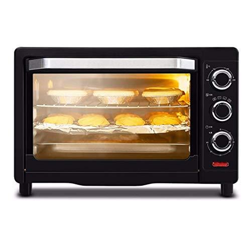 Horno tostador,horno 26L 1500W temperatura controlable 100-230℃ y temporizador de 60 minutos 3 modos de calentamiento Horno eléctrico multifunción para hornear pasteles para el hogar Parrilla de tres