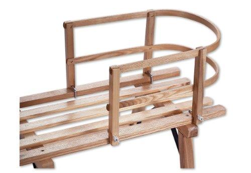 Sirch 106/K Schlittenlehne Holz massiv TÜV/GS (für Sirch Schlitten)