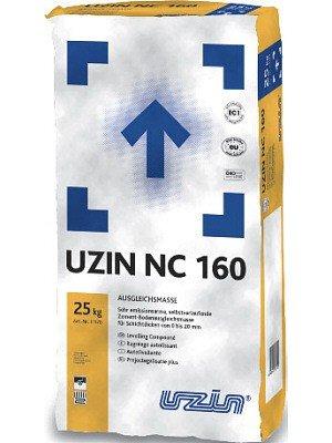 Uzin NC 160 Zement-Boden-Ausgleichsmasse 25 kg Verbrauch ca. 1,4 kg/m² pro mm Schichtdicke, Preis pro Pack