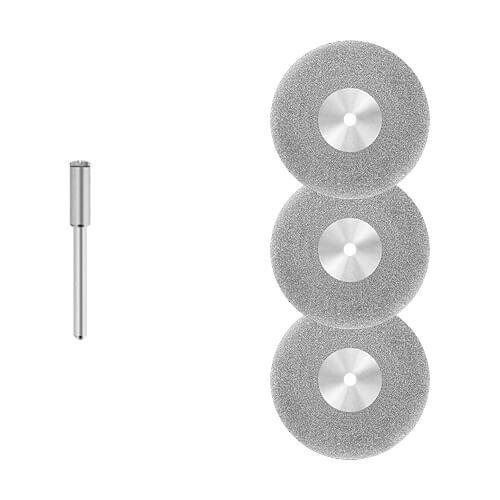 3x Diamant - Trennscheibe [Ø 40 x 0,6 mm] Fliesen - Glas/für Dremel, Proxxon