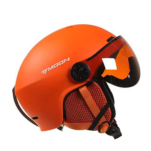 WXGY Casco de esquí de snowboard para adultos, unisex, antiniebla, antiUV, antiviento, ligero valor, color Naranja M, tamaño Small
