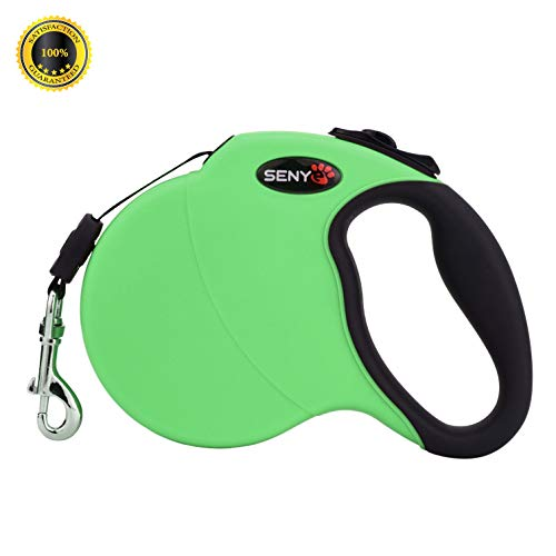 SENYE PET Retractable Dog Leash,16ft Dog Traction Rope for Large Medium Small Dogs,Break & Lock System (Green)