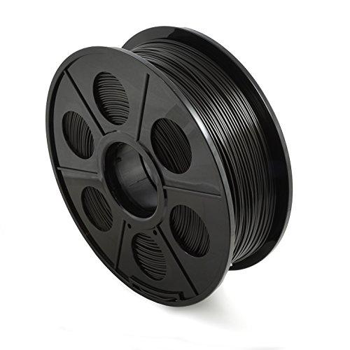 Ganzoo - Filamento per stampanti 3D/FDM/bobina da 1 kg PLA 1,75 mm e 3 mm – In diversi colori, confezione ermetica, 3,00mm, Nero , 1