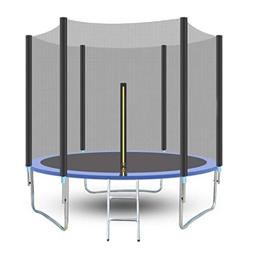 Check Out This Outdoor Trampoline, Round Jumping Table Fitness Trampoline with Enclosure Net Jumping...