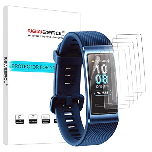 NEWZEROL [6 Pack] Ersatz Für Huawei Band 3 Pro Bildschirmschutzfolie, TPU High Definition Kratzfest Anti-Fingerprint Schutzfolie für Huawei Band 3 Pro-[Lebenslange Umtausch-Garantie]