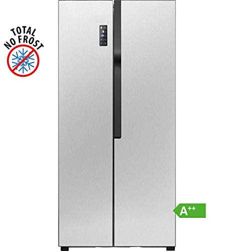 Bomann SBS 7324 IX Kühl-Gefrierkombination / 177,7 cm Höhe / 264 Liter Kühlteil / 164 Liter Gefrierteil/multiAirflow-System und Total No-Frost/Front Edelstahloptik/Anti-Fingerabdruck/LED-Display/A++