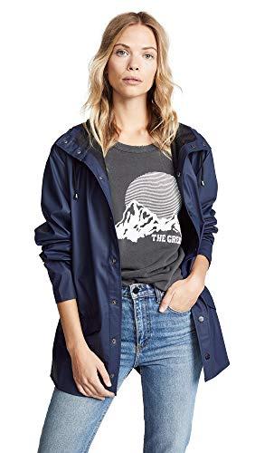 RAINS Waterproof Jacket, Impermeabile Uomo, Blu, M/L