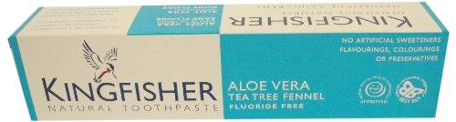 Kingfisher Aloe Vera Tea Tree Fennel Fluoride Free Toothpaste 100ml Pack of 3