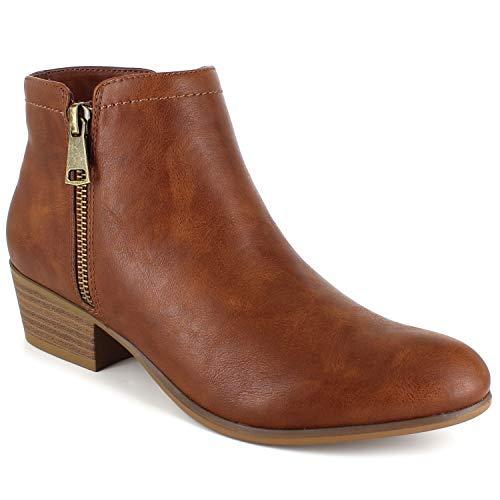 UNIONBAY Women's Tabby Ankle Boot, Cognac PU, 11