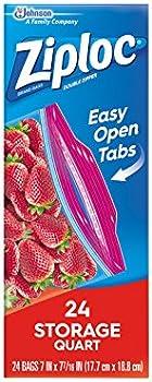 24-Count Ziploc Smart Zipper Plus Seal Food Storage Bags