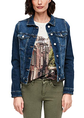 s.Oliver Damen Jacke aus Stretchdenim dark blue 42
