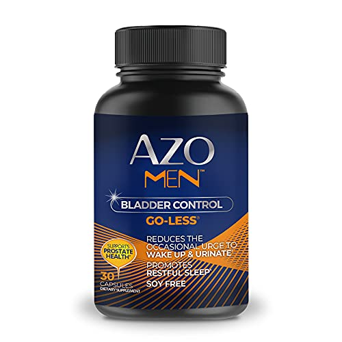AZO Men Bladder Control, Daily Bladder Support Designed Specifically for Men Helps Maintain Healthy Bladder Control and Reduce Occasional Urgency*, Supports Prostate Health*, 30 CT