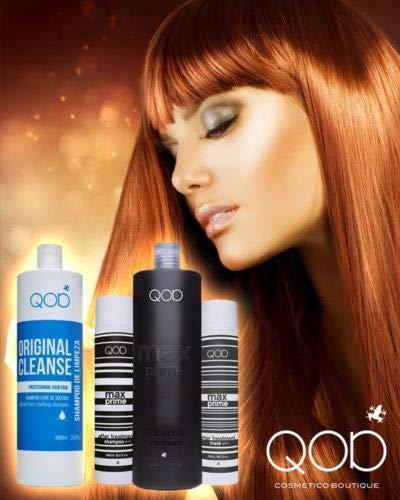 Organic QOD Brasilianische Keratin Haarglättung 100% 4er Kit (1x100ml+1x250ml+2x300ml) Formaldehydfrei