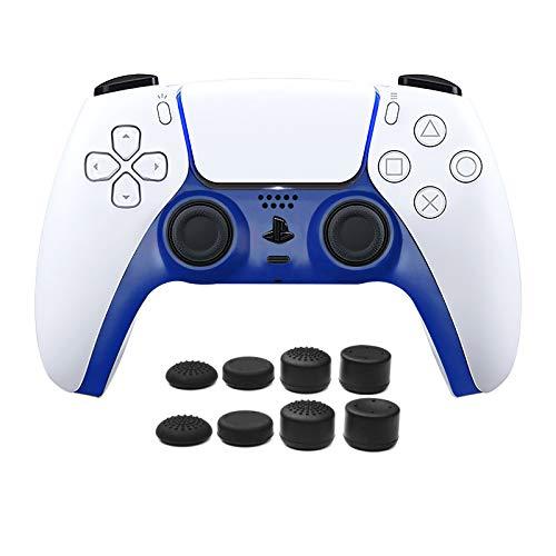 PS5 Controller Face Plate, Piastra Frontale per Controller PS5, Striscia Decorativa per Controller PS5 con 8pcs PRO FPS Joystick Thumb Grip para PS4/PS5 Controller - Blu Navy