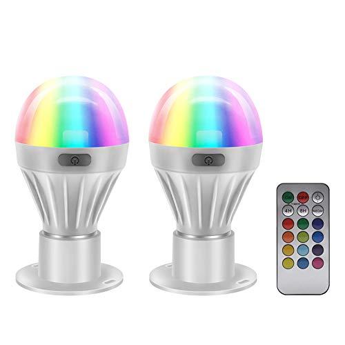 Bombilla de luz LED - GreeSuit - RGBW de color cambiante Lámpara con control remoto Bombillas de noche de estado de ánimo para la fiesta de decoración del hogar - Paquete de 2