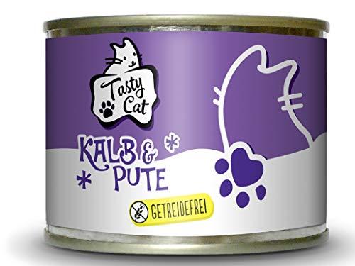 Tasty Cat Nassfutter für Katzen Kalb & Pute 200g. | getreidefrei | zuckerfrei