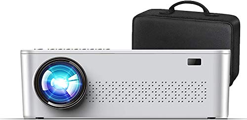 """XINDA Native 1920x 1080P Projector,7500 L Upgrade Full HD 4K Projector for Outdoor Movies with 400"""" Diagonal,Support 4K Dolby Video and Zoom,Compatible with TV Stick,Phone,PC,TV Box,PS4 (Black)"""