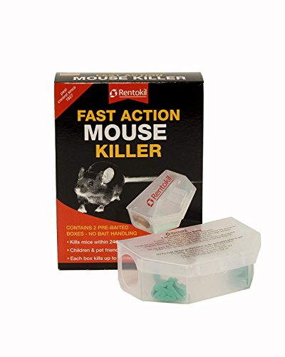 Rentokil rapide action de souris Killer 2 déjà appâté Boîtes