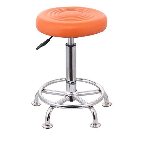 Tabouret de bar tournant, tabouret de beauté, haut tabouret, tabouret de bar, chaise de bar, bagage (Couleur : Orange)