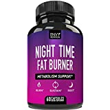 Night Time Fat Burner - Metabolism Support - Curb Appetite, Sustain Energy and Sleep for Men and Women- 60 Capsules