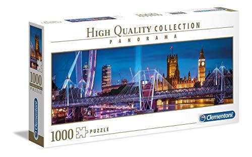 Clementoni- Puzzle 1000 Piezas Panorama London, Multicolor (