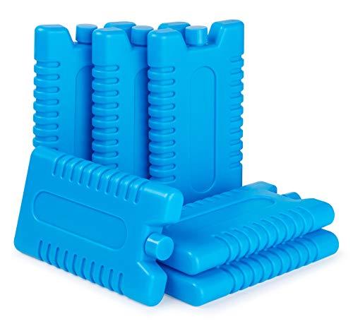 Anstore Freezer Blocks, 6 Pack Reusable Ice Cooler Blocks Ice Pack for Cool Bag Cool Box Ice Box - Size 16 x 9 x 2 cm