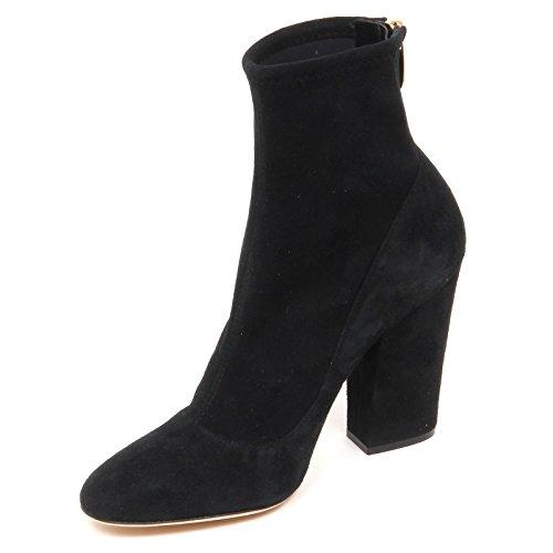 Sergio Rossi E4738 Tronchetto Donna Black Scarpe Suede Stretch Boot Shoe Woman [35]