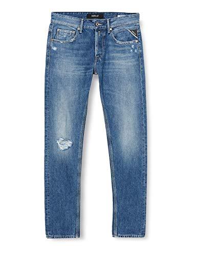 Replay Herren WILLBI Jeans, 9 MEDIUM Blue, 34/30