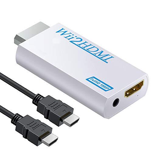 eSynic Wii a HDMI Convertidor Wii a HDMI Adaptador de 3.5mm Jack...