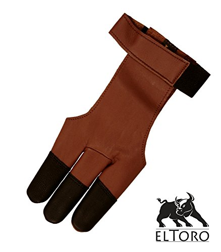 Guantes de disparo elTORO tradicional tradición - marrón-negro, color , tamaño xx-large