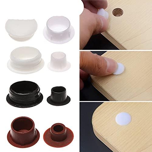 Hot 50Pcs 5-16mm Tapas de orificios para muebles Cubierta de tornillo de protección Decoración Tapón de polvo Tapón del gabinete Tapón de orificio de taladro Hardware Grommet-15mm-black