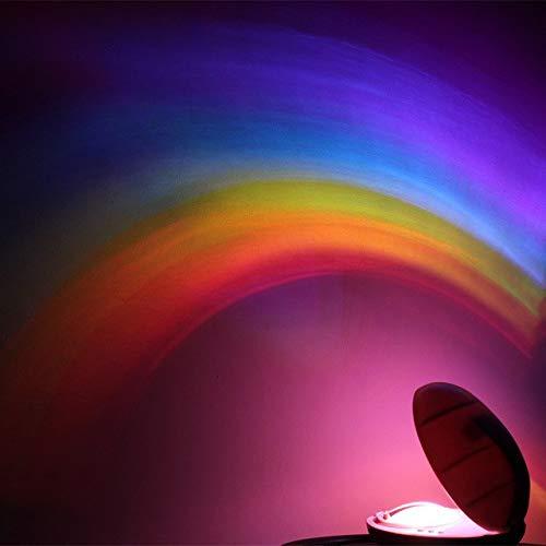 PREMIUM Regenbogen Projektor LED mit Timer Funktion - Tischleuchte Dekoleuchte Nachtlicht für Kinder Effektlampe Effektleuchte Deko Lampe Leuchte Regenbogenprojektor
