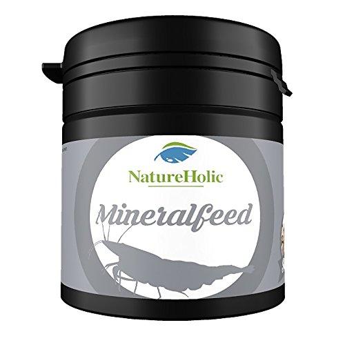 NatureHolic - Mineralfeed Garnelenfutter - Mineralhaltiges Futter für Ihre Garnelen im Aquarium - gegen Häutungs Probleme - 30g