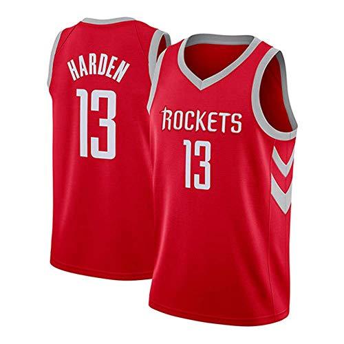 XSJY Jersey De Baloncesto para Hombre: Cohetes De NBA # 13 James Harden Unisex Camiseta Sin Mangas Bordado Malla Baloncesto Swingman Jersey,B,XXL:185~190cm/95~110kg
