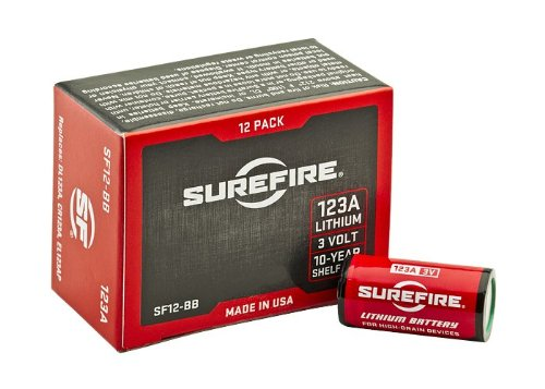 SureFire SF12-BB Boxed Batteries, (12 Pack)