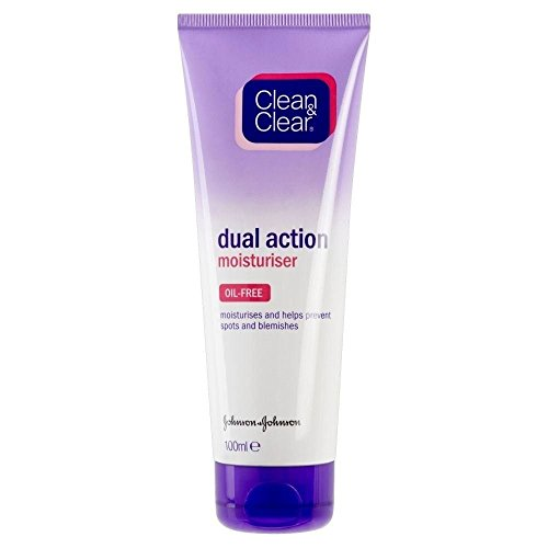 Clean & Clear Aceite De La Crema Hidratante De Doble Acción Gratuita (100ml) (Paquete de 2)